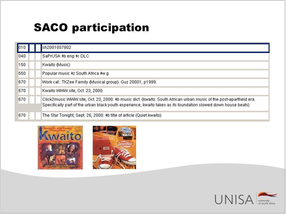 SACO participation