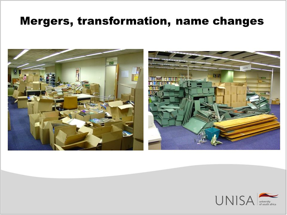 Mergers, transformation, name changes