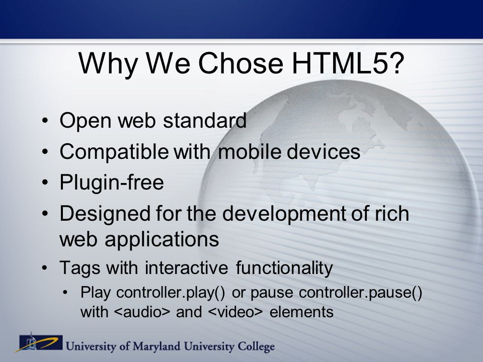 Why We Chose HTML5.