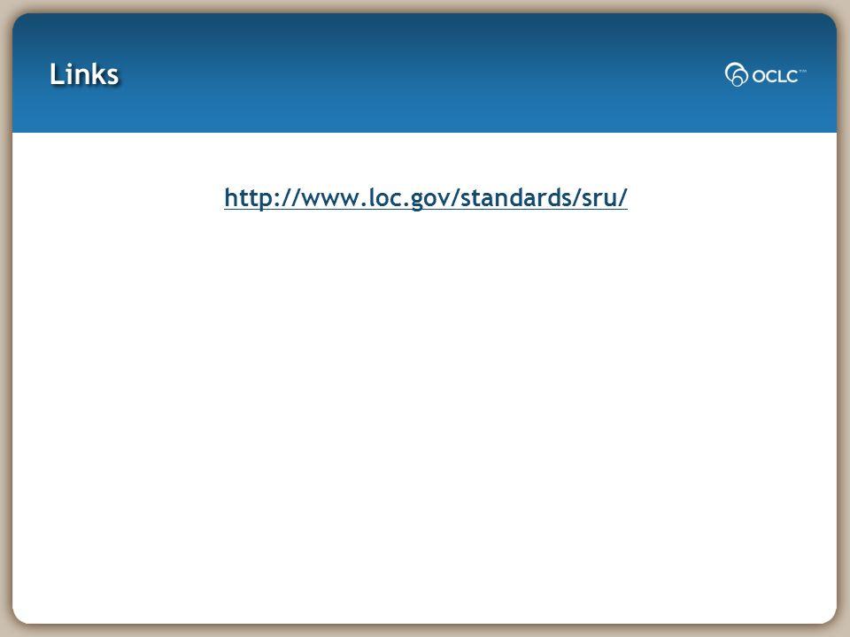 Links http://www.loc.gov/standards/sru/