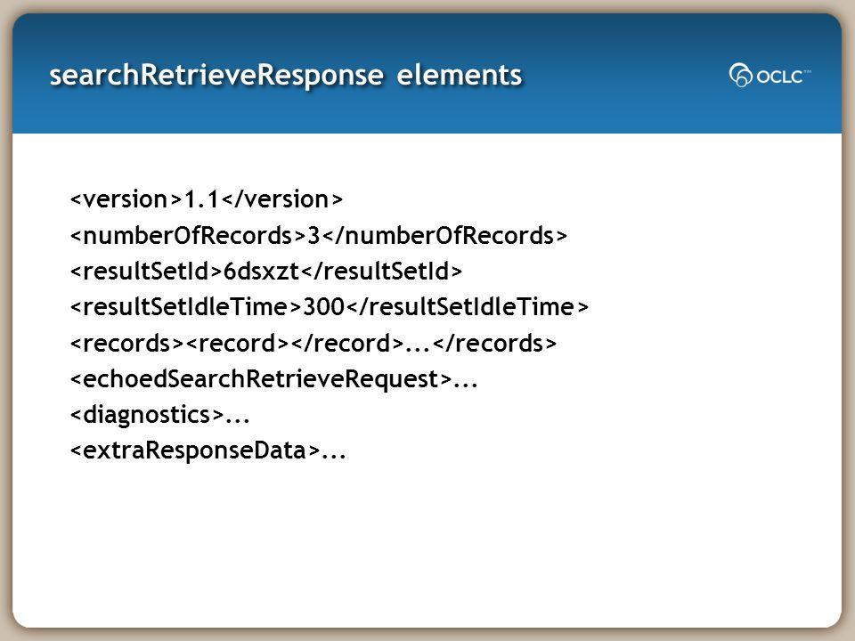 searchRetrieveResponse elements 1.1 3 6dsxzt 300...