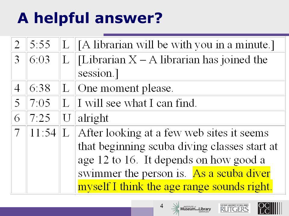 4 A helpful answer?