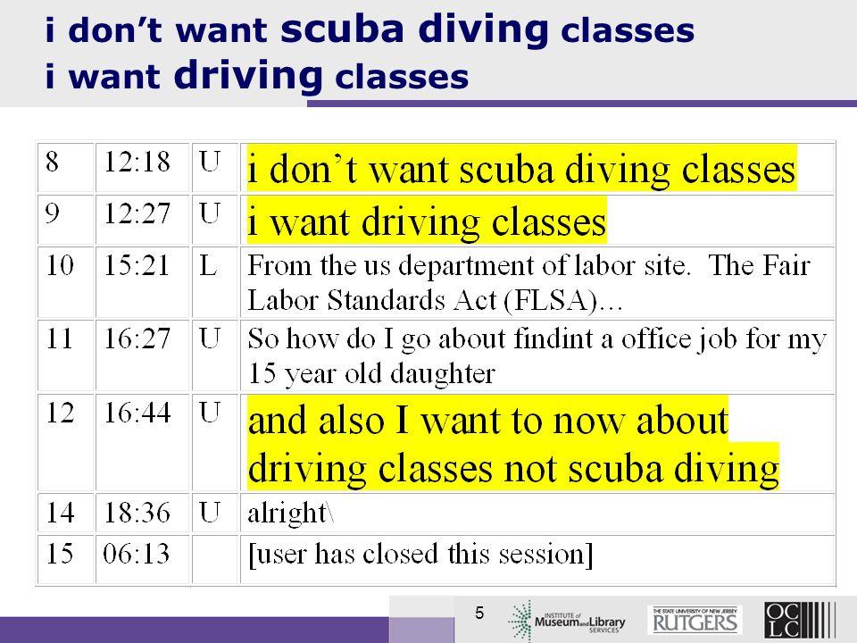 5 i dont want scuba diving classes i want driving classes