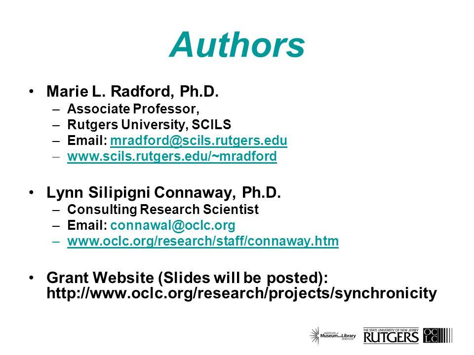 Authors Marie L. Radford, Ph.D.