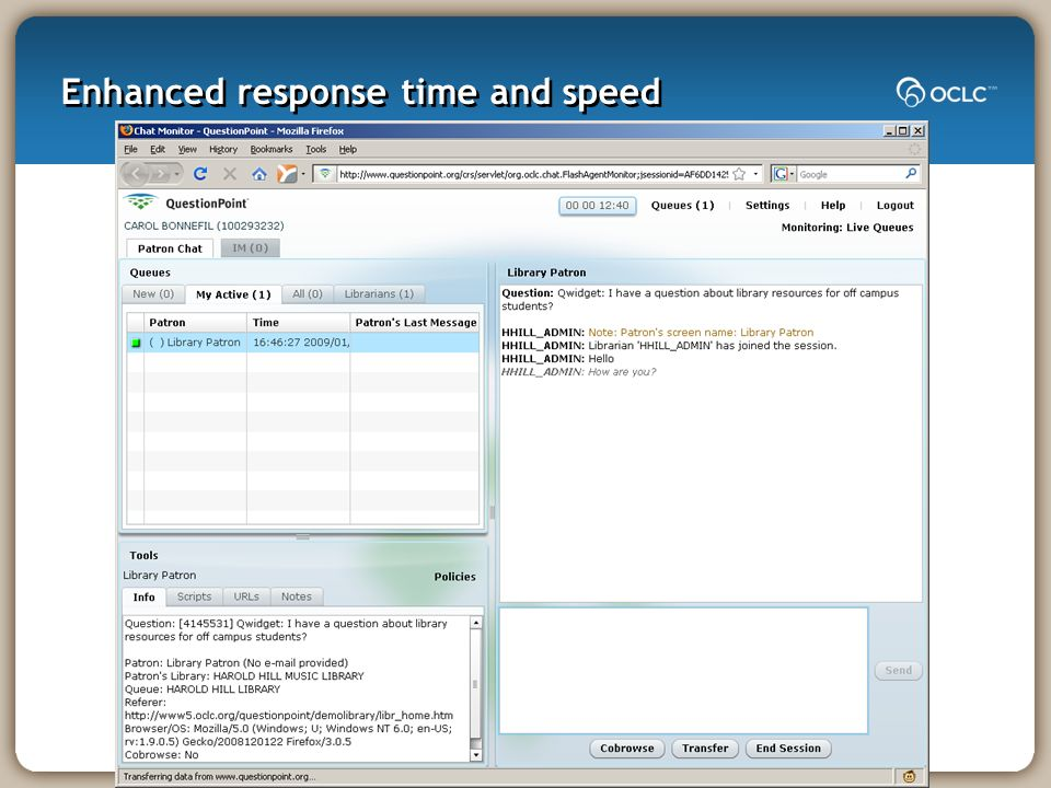 Enhanced response time and speed