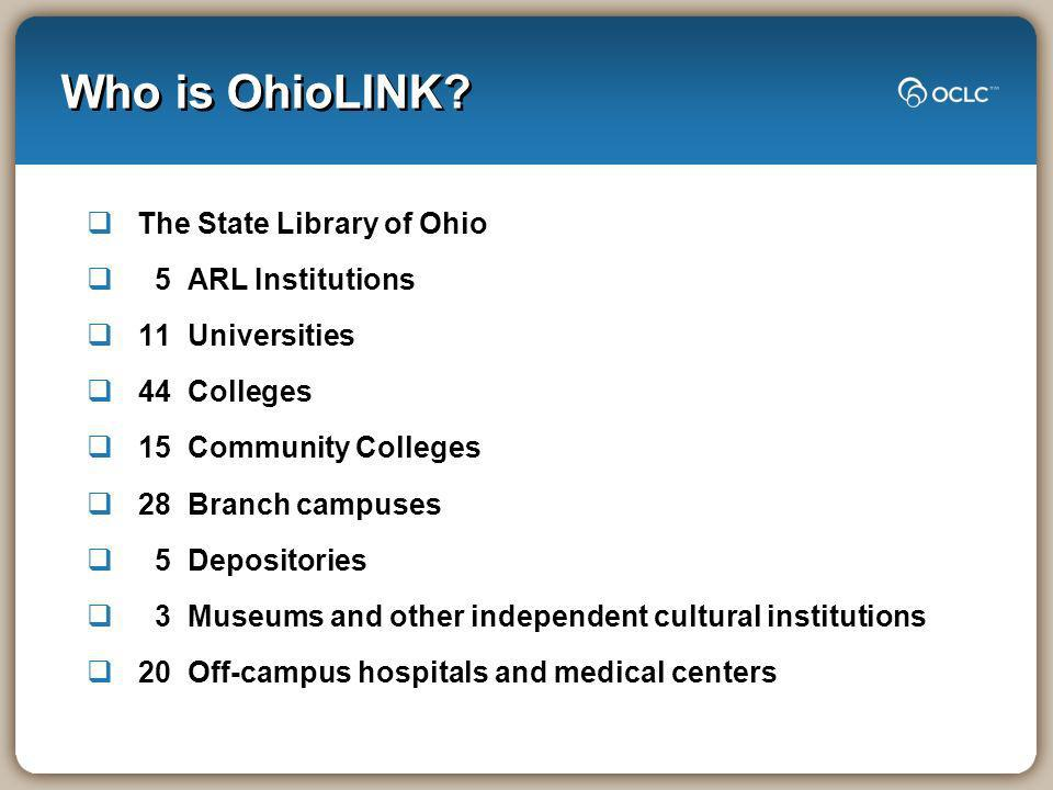 Who is OhioLINK.