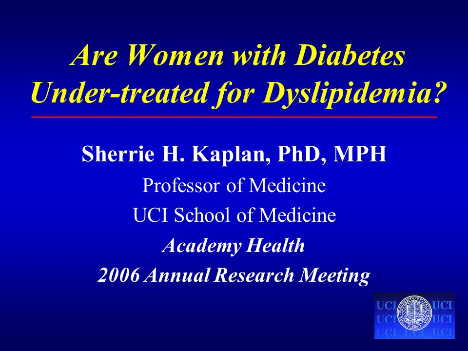 Are Women with Diabetes Under-treated for Dyslipidemia.