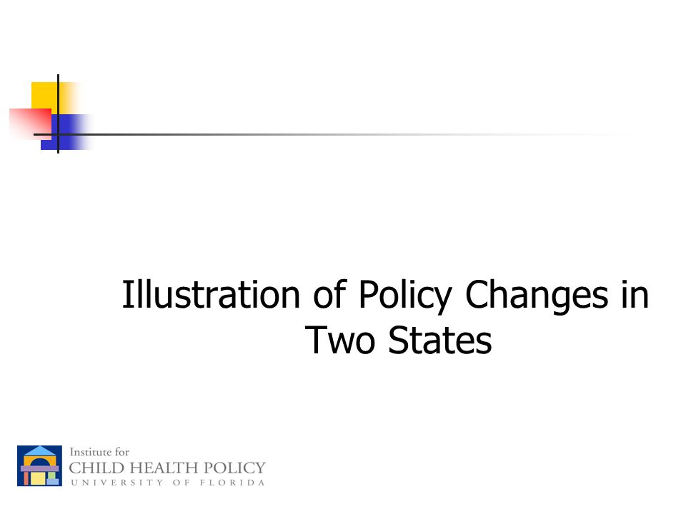 Illustration of Policy Changes in Two States