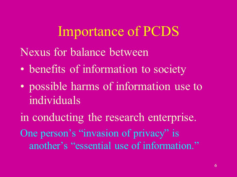 27 Common Rule (continued) Informed consent –generally required in primary data-collection –appropriate information about use of data –might be waived where impractical to obtain (e.g.