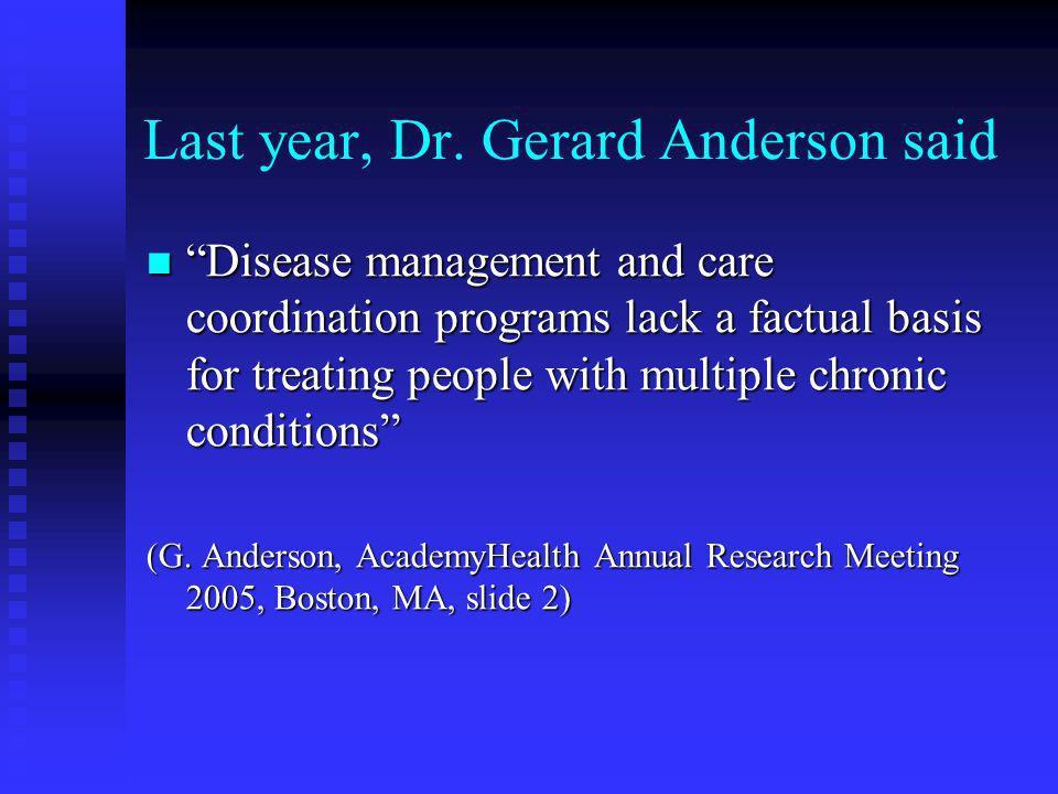 Last year, Dr.