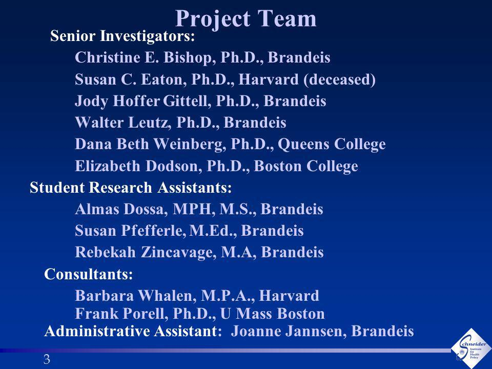 33 Project Team Senior Investigators: Christine E.