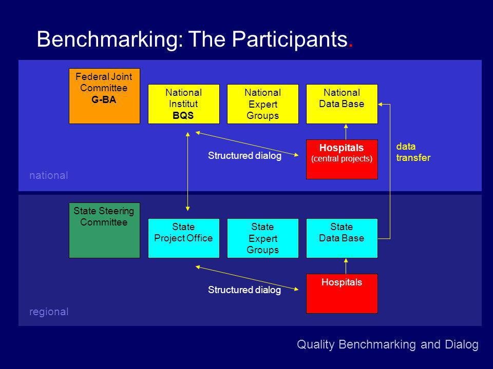 Quality Benchmarking and Dialog Benchmarking: The Participants.