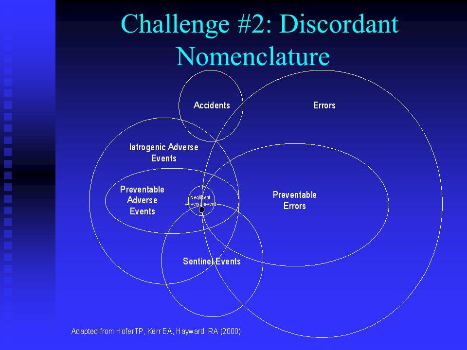 Challenge #2: Discordant Nomenclature