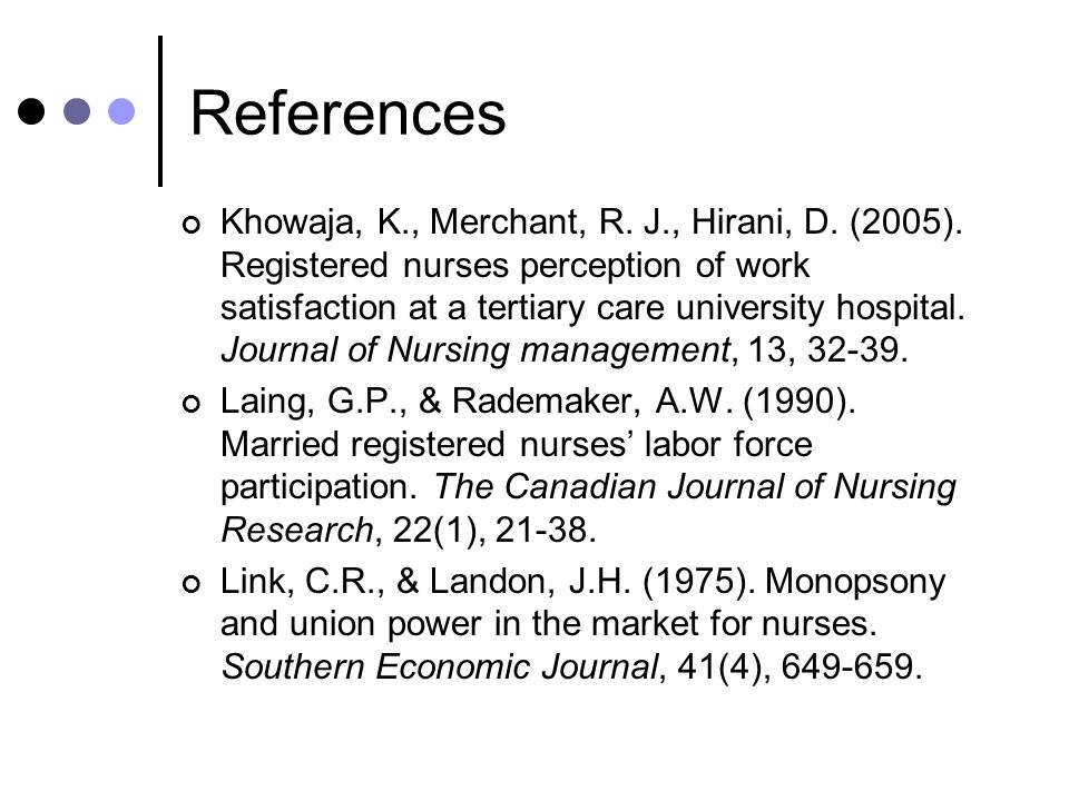 References Khowaja, K., Merchant, R. J., Hirani, D.