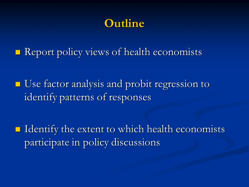 We asked 19 Questions About Views on Health Policy Questions or the Effects of Open Empirical Questions in Health Economics We substantially agree on 8 We substantially agree on 8 We modestly agree on 4 We modestly agree on 4 We substantially disagree on 7 We substantially disagree on 7