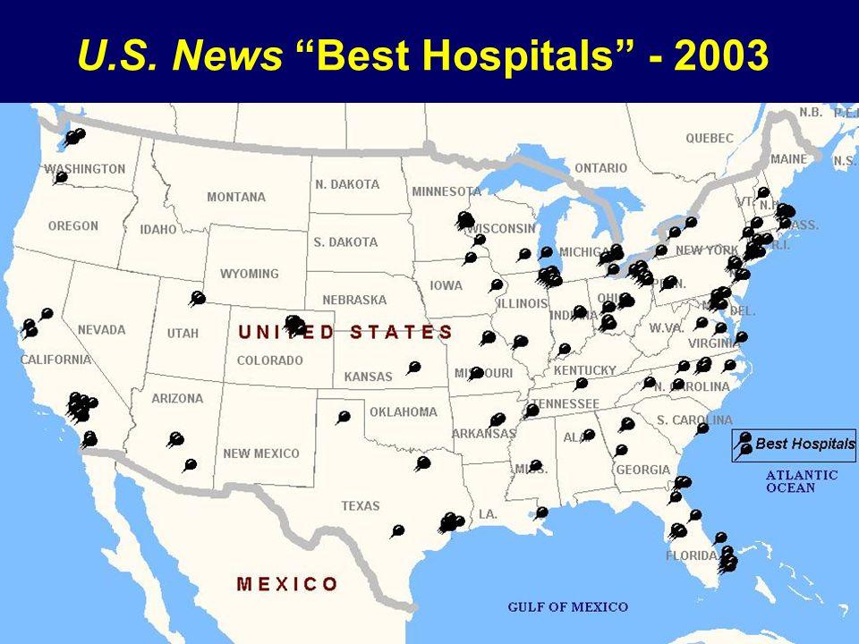 U.S. News Best Hospitals - 2003