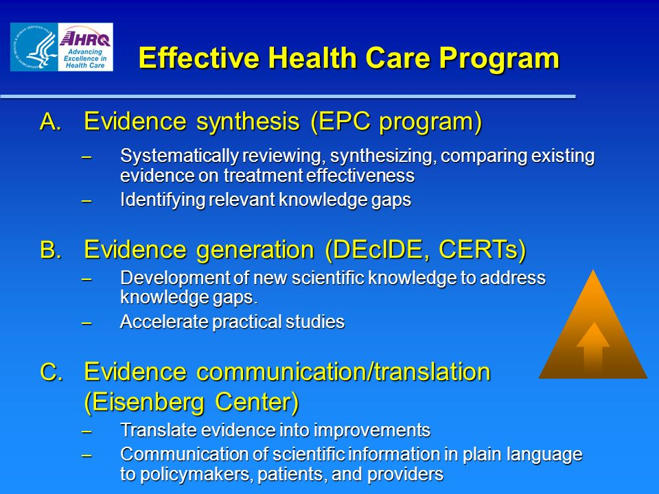 Effective Health Care Program A.