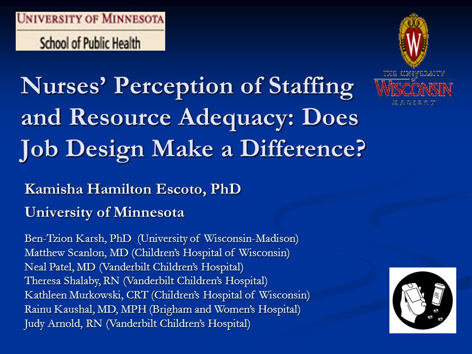 Nurses Perception of Staffing and Resource Adequacy: Does Job Design Make a Difference.