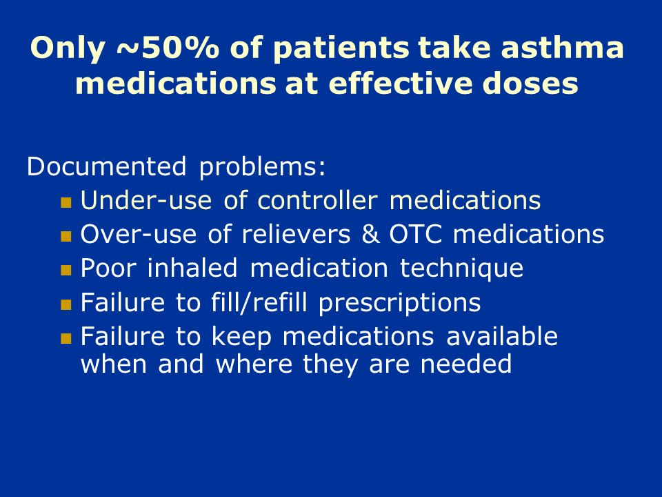 Conclusions: For non-adherent patients with poorly controlled asthma, care management that utilizes a shared clinician-patient approach to selection of the treatment regimen significantly improves adherence to asthma controllers over a one year period when compared with both: usual medical care, and traditional, prescriptive care management Intervention effects did not differ as a function of ethnic group (Caucasian, Asian and African American)