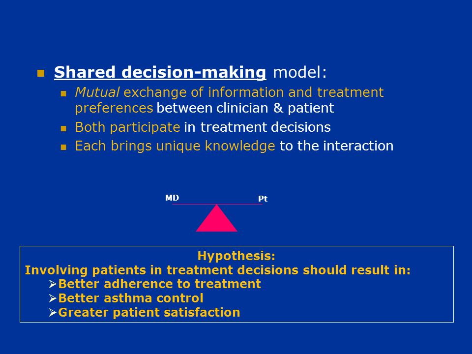 Design of the BOAT trial Three-arm, randomized controlled trial SDM = shared decision making care management MBG = guidelines-based traditional care management UC = usual medical care Data collection Baseline and 12-mos.