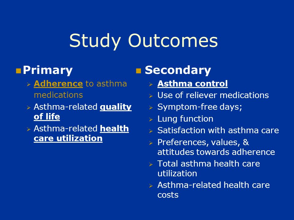 Both the SDM & MBG Interventions: Target patients with poorly controlled, moderate-severe asthma Involve 2 in-person sessions, approximately 1 mo.
