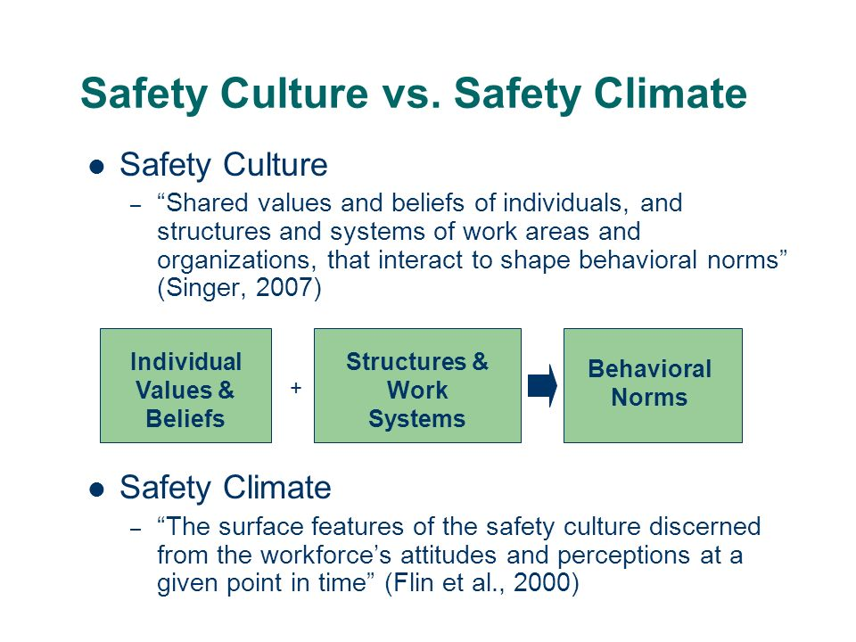 Safety Culture vs.