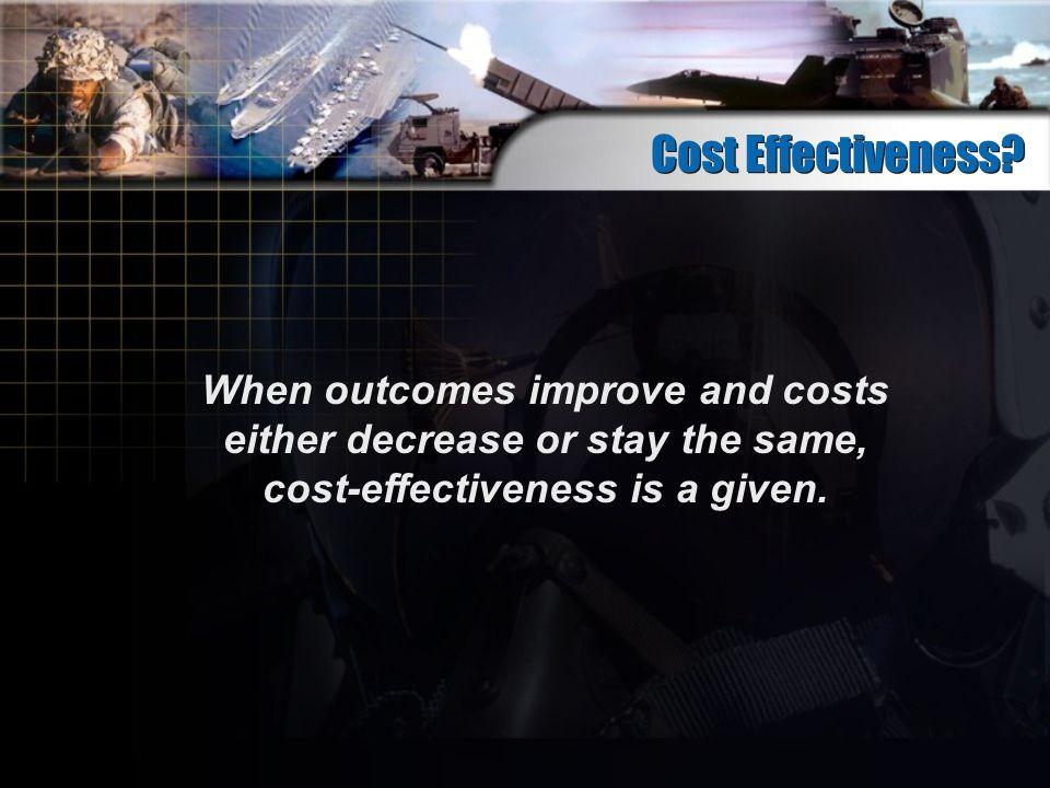 Cost Effectiveness.