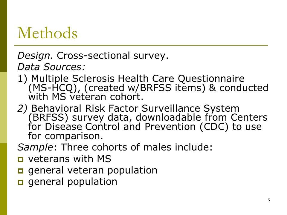 5 Methods Design. Cross-sectional survey.