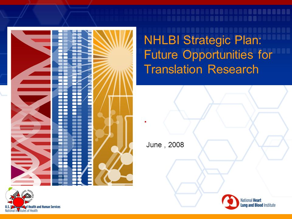 NHLBI Strategic Plan: Future Opportunities for Translation Research. June, 2008