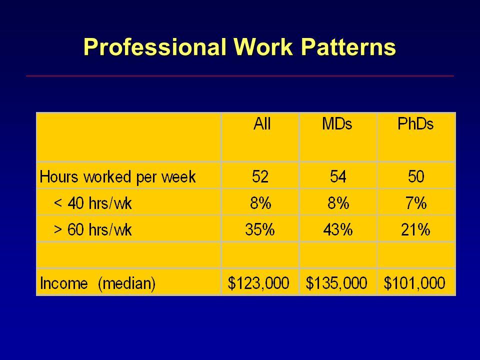 Professional Work Patterns