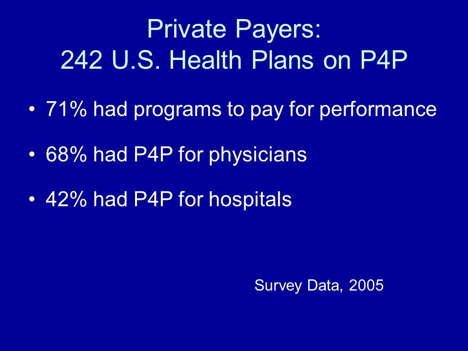 Private Payers: 242 U.S.