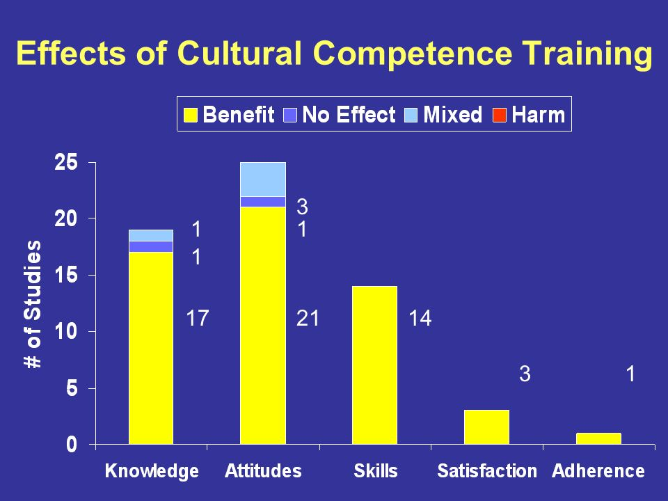 Effects of Cultural Competence Training 172114 31 1 11 3