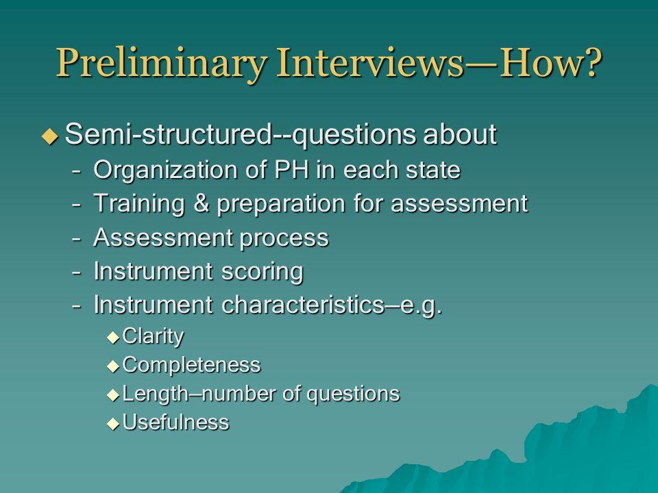 NPHPSP Instrument V2.0 should: Build on current instrument and Build on current instrument and lessons learned.