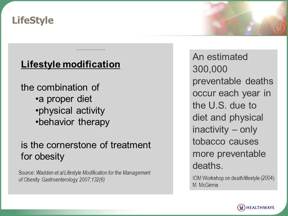 Where the discussion should lead Obesity Lifestyle Chronic Conditions Diabetes Heart Disease Cancer Osteoarthritis Absenteeism Premature Death Present