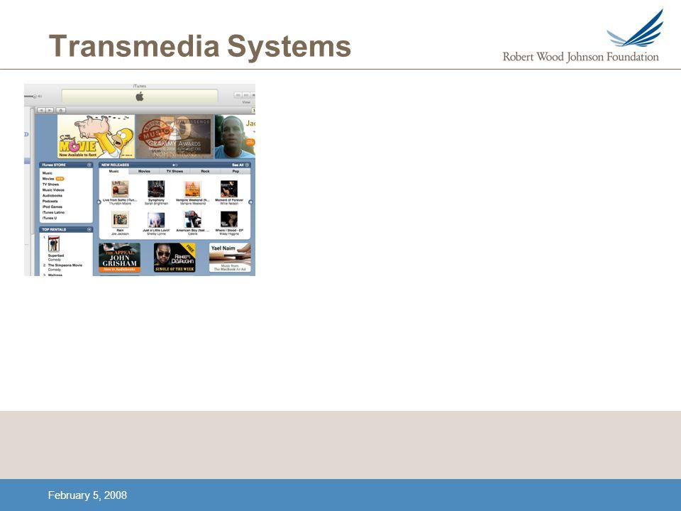 February 5, 2008 Transmedia Systems