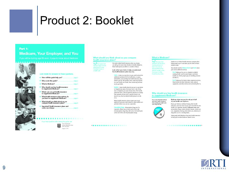 9 Product 2: Booklet