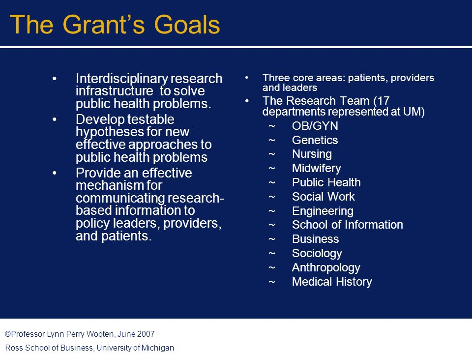 ©Professor Lynn Perry Wooten, June 2007 Ross School of Business, University of Michigan Lessons Learned: Health Systems Addressing Health Disparities Committed, collective and visionary leadership.