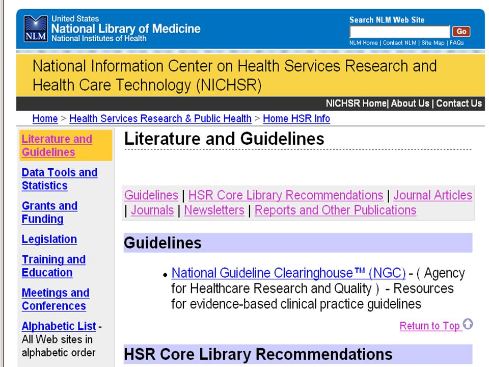 HSR IC Lit & Guidelines