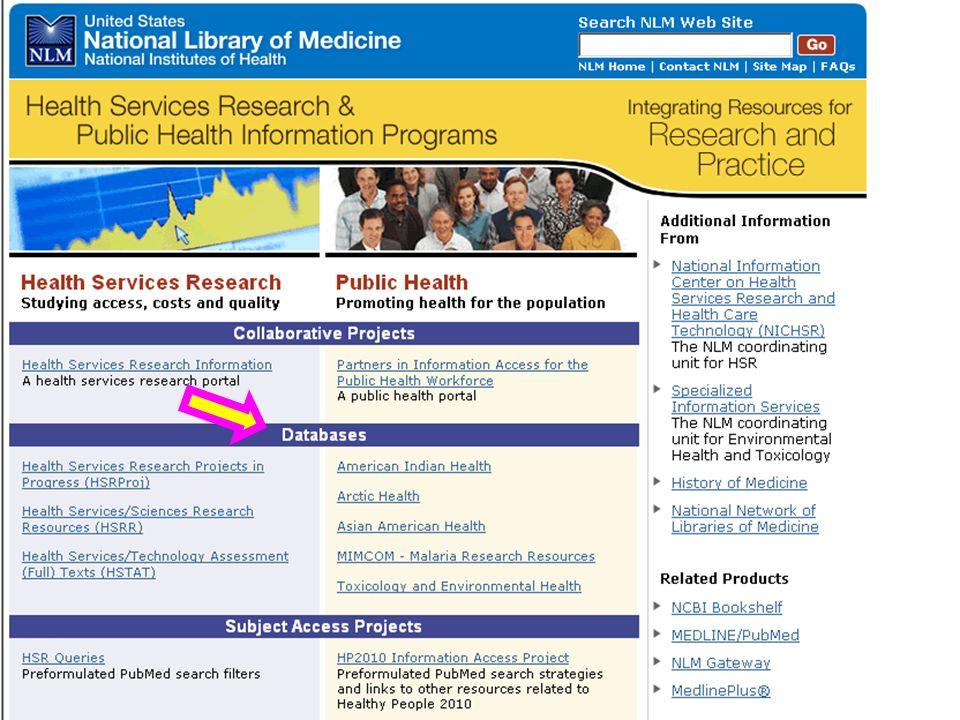 HSR & PH Portal – Databases