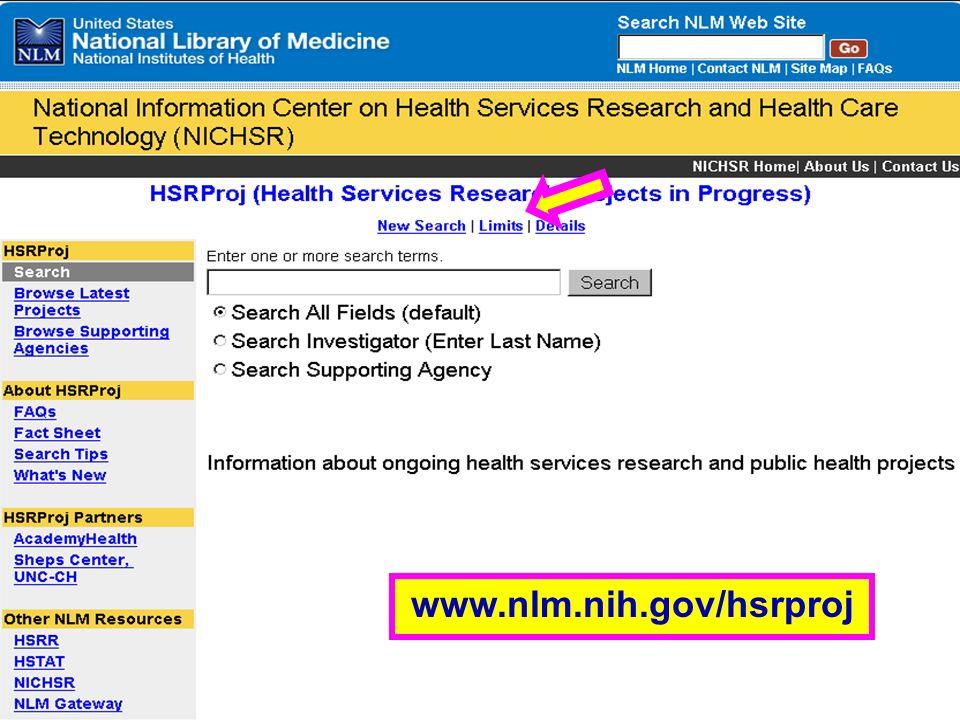 HSRProj (1) www.nlm.nih.gov/hsrproj
