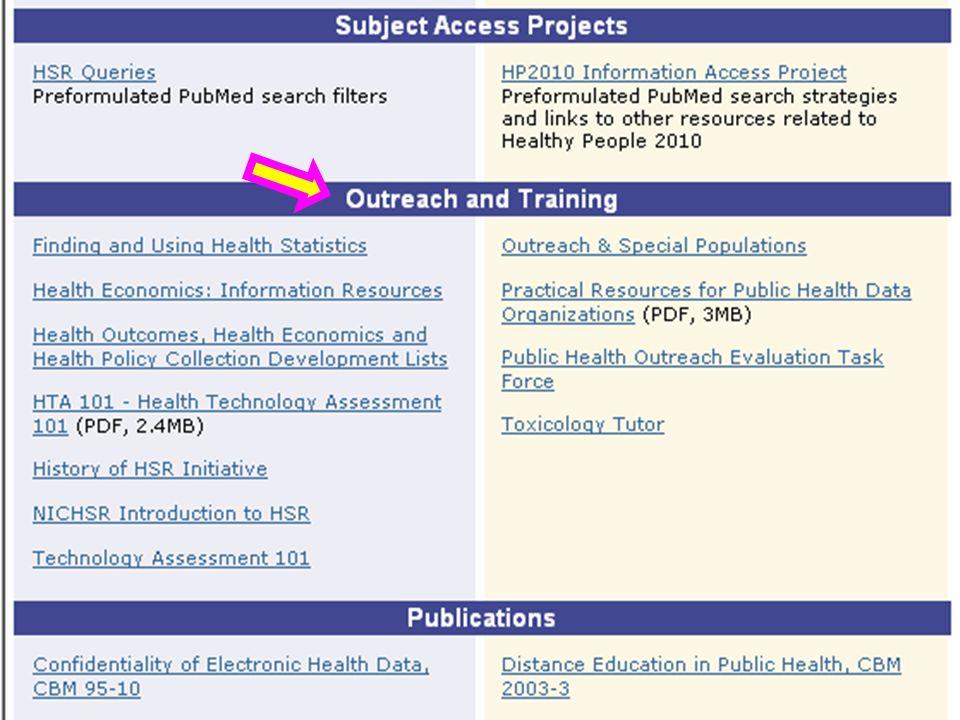 HSR & PH Portal – Outreach & Training