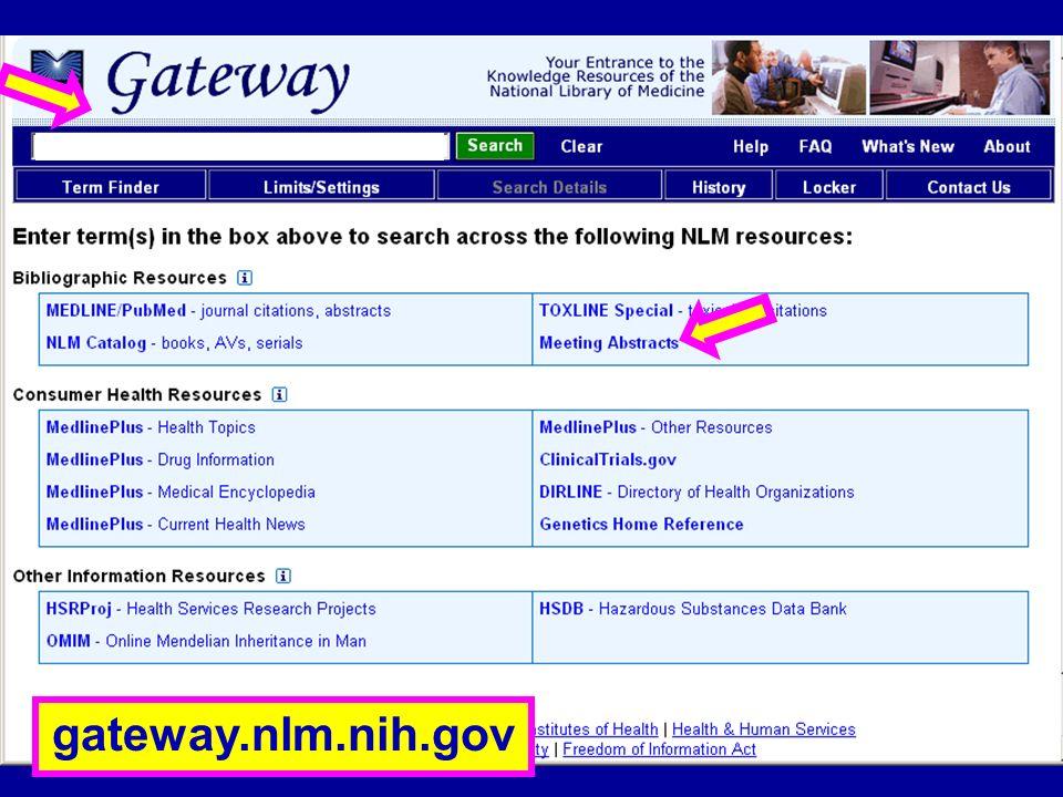 NLM Gateway (1) gateway.nlm.nih.gov