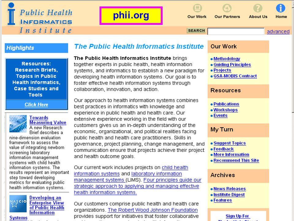 PH Informatics Institute phii.org