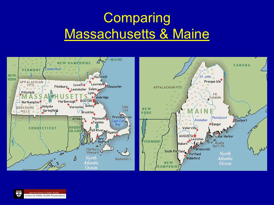 Comparing Massachusetts & Maine