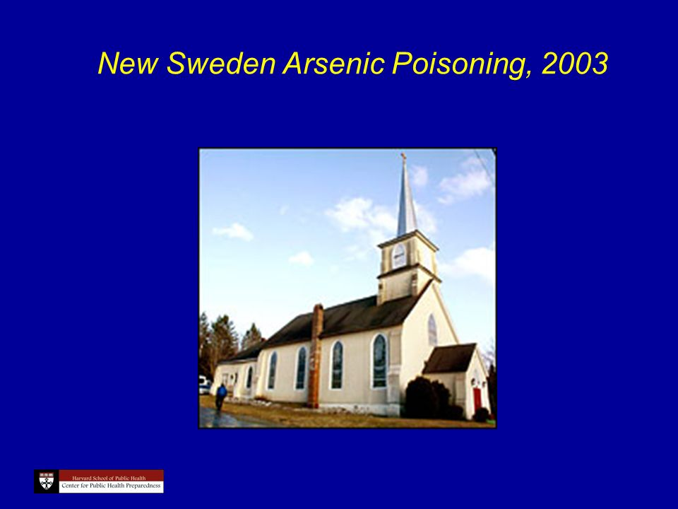 New Sweden Arsenic Poisoning, 2003
