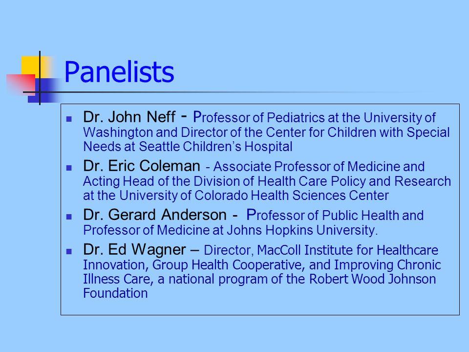 Panelists Dr.