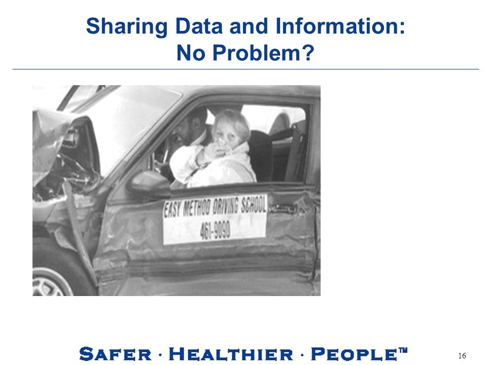 16 Sharing Data and Information: No Problem?