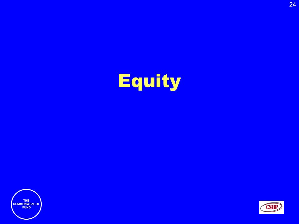 24 THE COMMONWEALTH FUND Equity