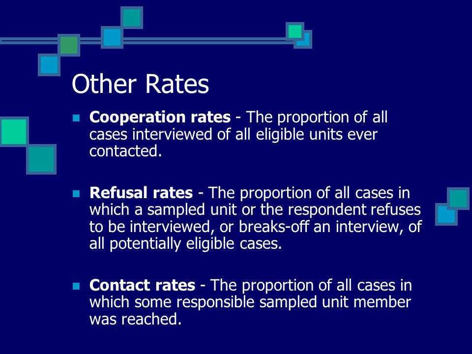 Why Do We Care About Response Rates.