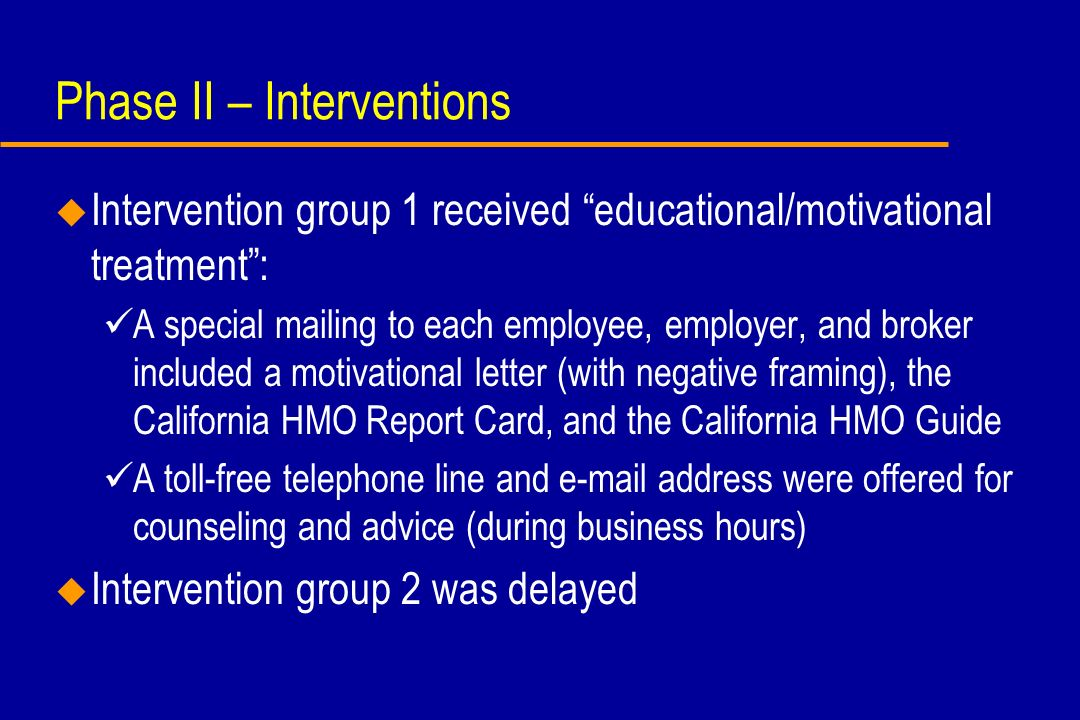 Secondary outcome, reason for switch Stated reason for switching in intervention group vs.